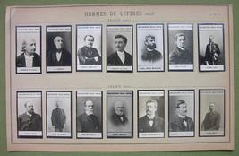 1900 (14) PHOTOS COLLECTION - French Poets Writers Lemaitre Roux de Lisle - $15.72