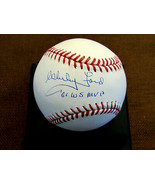WHITEY FORD 1961 WORLD SERIES MVP NEW YORK YANKEES HOF SIGNED AUTO OML J... - $296.99