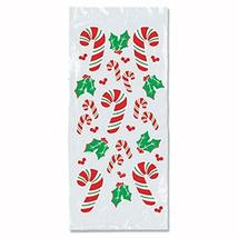 """Club Pack of 300 Christmas Candy Cane and Holly Cello Bags 4"""" x 9"""" - $63.76 CAD"""