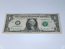 2013 $1 One Dollar Bill US Note Date Year Birthday 1939 8010 Fancy Money... - $13.78