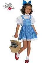 Girl's Deluxe Dorothy Wizard of Oz Costume Dress ONLY Size Small Blue Wh... - $21.49