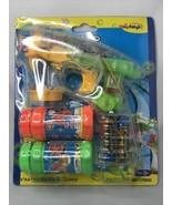 Haktoys Transparent Bubble Shooter Gun   Ready to Play Light Up Blower w... - $11.96
