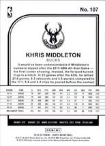 Khris Middleton 2019-20 Panini NBA Hoops Card #107 image 2
