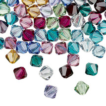 12pcs - 6mm Swarovski Crystal Faceted Bicone Beads - You Choose The Color