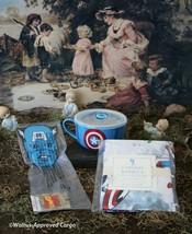 POTTERY BARN KIDS CAPT. AMERICA SOUP BOWL & PILLOWCASE + WILLIAMS-SONOMA... - $49.95