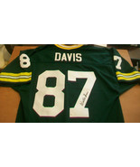 WILLIE DAVIS AUTOGRAPHED GREEN BAY PACKERS JERSEY, #87, SUPER BOWL CHAMPION - $594.00