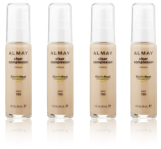 (4-Pack) ALMAY Clear Complexion Liquid Makeup, Warm 700 - 1 fl. Oz (30 ml) - $56.99