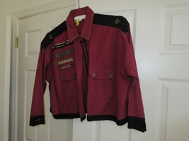 Ladies Short & Fitted Sport Jacket ,RED & BLACK, Embroidery/Lace ,Size A... - $118.71