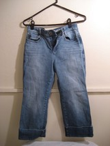 DKNY womens distressed cropped capri jeans size 6 - $20.98