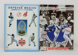 1997 & 1998 Division Series Baseball Program Yankees Indians Nice Lot NM - $19.77
