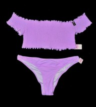 Victoria's Secret Smoked Bikini Top & Itsy Bottom Small S Swim Suit Set New Purp - $55.93