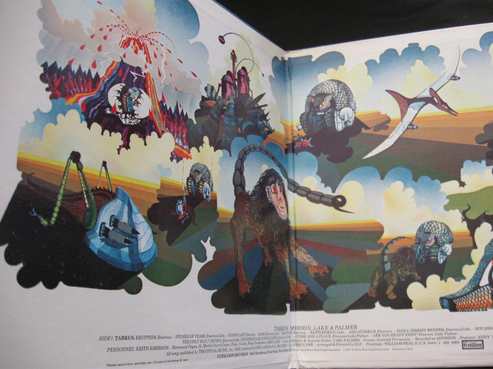Emerson Lake & Palmer ELP Tarkus Cotillion SD 9900 Stereo Vinyl LP Record Album image 2