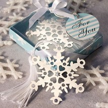 Snowflake Bookmarks Snowflake Winter Party Favors Wedding Favors - $1.33+