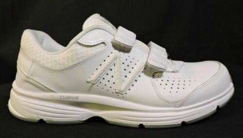 NWOB Mens New Balance 411 sneakers 7.5 D White Leather No Lace Easy ON NEW shoes image 3
