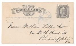 1876 PA Honeybrook Penna Double Blue Oval Cancel on UX5 Postal Card  - $9.95