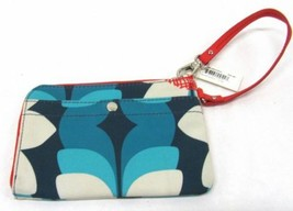 NWT Fossil Blue/Red Wristlet Purse - $31.99
