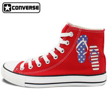 US Flag Stars Stripes Design Red Converse All Star Canvas Shoes Sneakers - $119.00