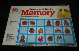 Vintage 1980 Memoria Frontales y Espaldas Emparejamiento Juego de Cartas en Caja - $45.65