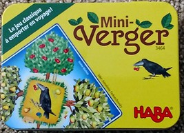 MINI ORCHARD MINI VERGER GAME HABA #3464 MADE IN GERMANY NEW IN TIN  - $10.00