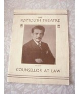 The Plymouth Theatre Counsellor AT Law Paul Muni - $19.99