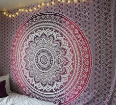 Bohemian Hippie  Mandala Tapestry Indian Wall Hanging Queen Bedspread Throw - $17.57