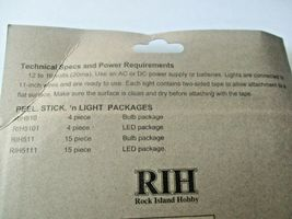 "Atlas  # Rock Island Hobby # RIH5111 Peel. Stick. ""n Light 15 LEDS each 11"" wire image 3"