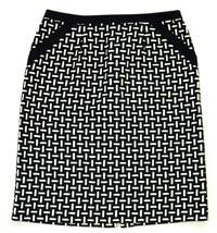 "TALBOTS Pencil Midi Skirt Soft Black & White Wool Knit Size 10 / 30"" Waist - $14.84"