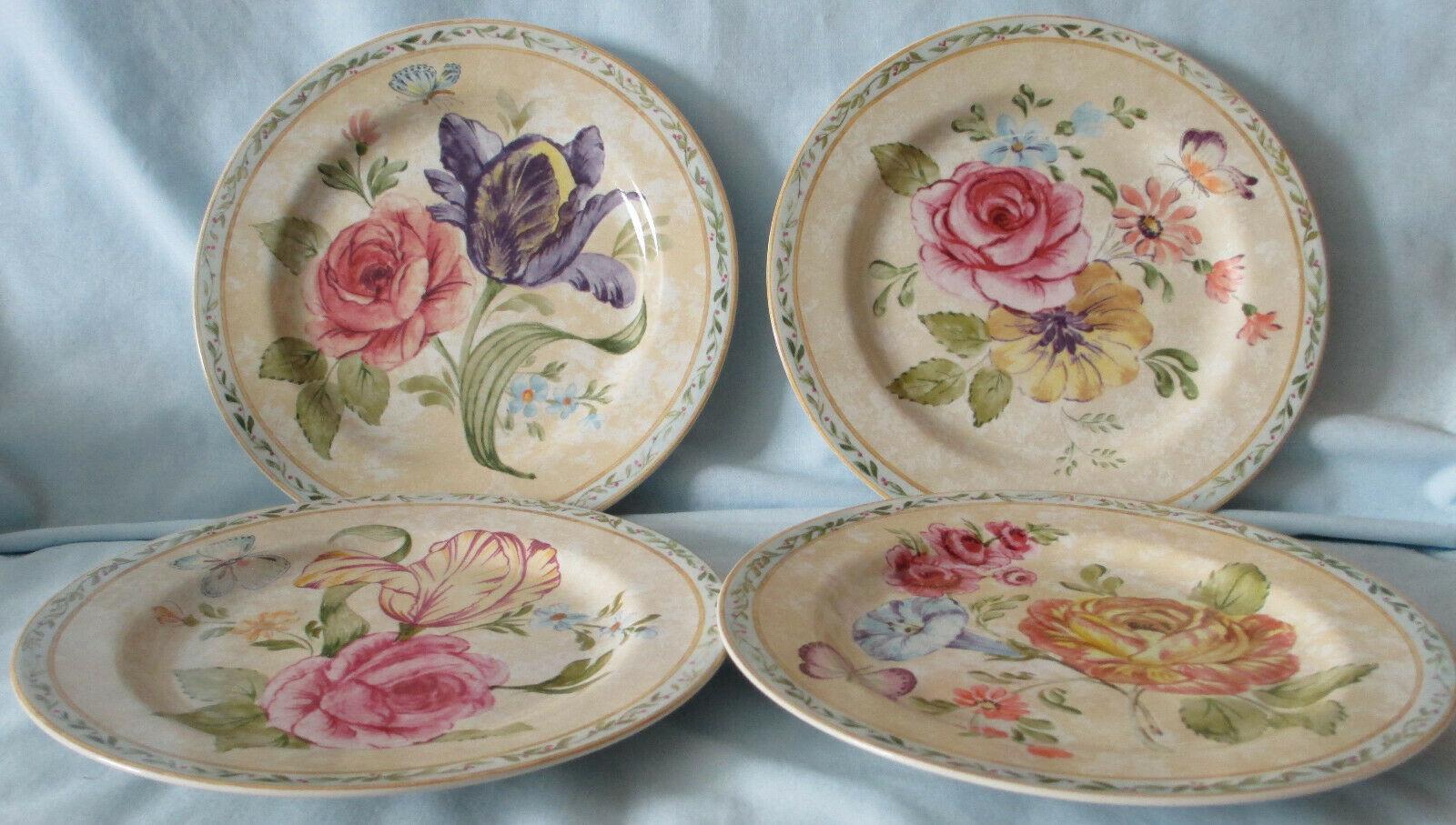 American Atelier 5024 Floral Daze Salad Plate set of 4