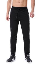 ChinFun Men's Tapered Fit Athletic Running Pants Slim Fit Jogger Sweatpa... - $35.46