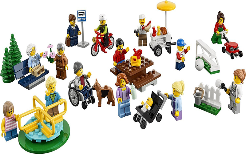 258 PCS City Town Fun The Park People Pack Construction Set toys kids Fit Lego for sale  USA