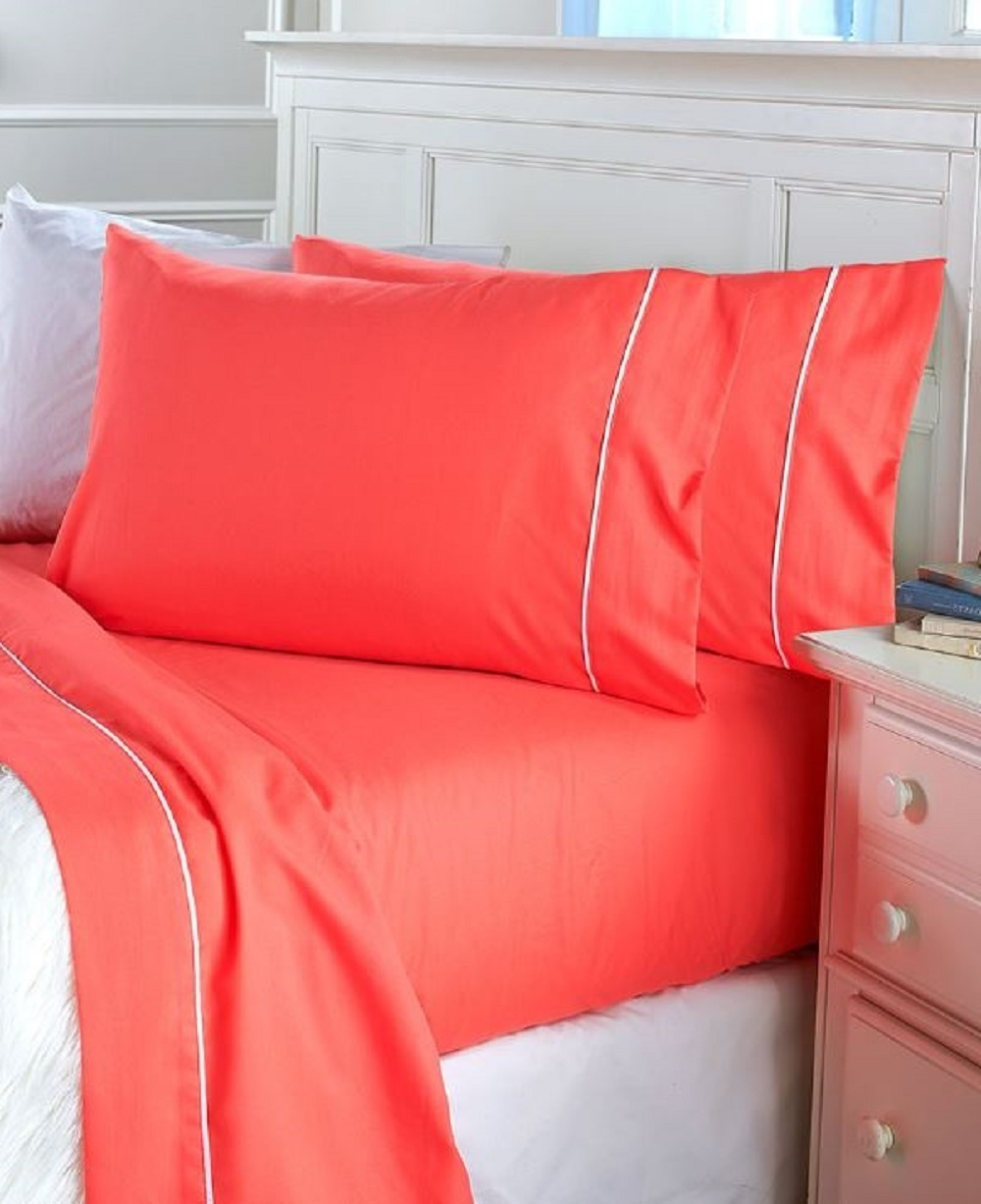 Watermelon bed sheets orange flipped