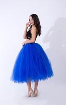 Women Puffy Tutu Skirt Drawstring High Waist Long Tulle Skirt Petticoat One Size image 12