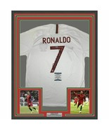 FRAMED Autographed/Signed CRISTIANO RONALDO 33x42 Portugal White Jersey ... - $749.99