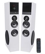 """Tower Speaker Home Theater System+8"""" Sub For Sony X800E Television TV-White - £293.28 GBP"""