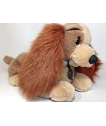 "Disney Lady & the Tramp Cocker Spaniel Dog Lady RARE Brown Plush Lying 15"" - $34.99"