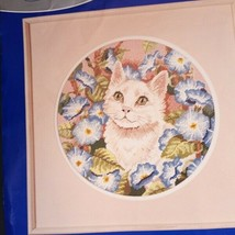 Cats in Morning Glories JP Coats Needlepoint Kit 22001 Open Contents Ver... - $39.59