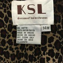 KSL Karin Stevens Sleeveless Maxi Dress and Jacket Size 14W Brown Animal Print image 11