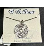 "Sterling Silver B. Brilliant Cubic Zirconia 18"" Necklace - $24.09"