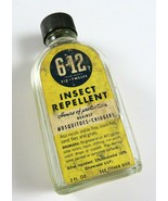 Vintage 6-12 Six Twelve Insect Repellent for Mosquitoes Chiggers, Glass ... - $9.89