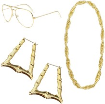 Feacole 80s/90s Style Costumes Jewelry for Women, Old School Rapper Hip ... - $58.86