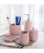 Simple European Ceramic Bathroom Set Kit Five Piece Wash Suit Wedding Gift - €72,96 EUR
