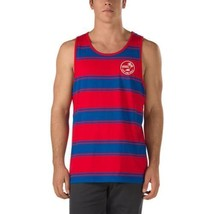 New Vans Off The Wall Bidwell Tank Top Men's Blue Red Striped Nwt - $21.95