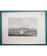 DELAWARE New Castle Tasker Iron Works Building - 1876 Engraving Print - $21.42