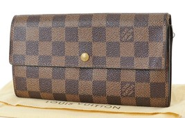 Auth LOUIS VUITTON Sarah Long Wallet Damier Ebene Zippered Coin Purse #3... - $217.00