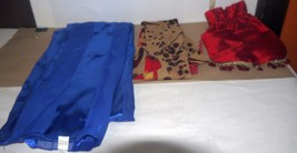 Nice Set of 2 Decorative Ladies Scarves & Red Lingerie Drawstring Pouch ... - $10.99