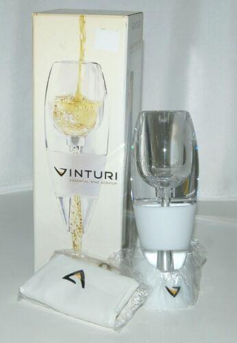Vinturi VINW White Wine Aerator No Drip Stand Pouch Color White