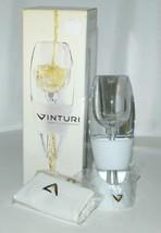 Vinturi VINW White Wine Aerator No Drip Stand Pouch Color White image 1