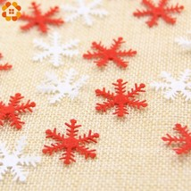 DIYHouse® 100PC/Lot Christmas Snowflake Non-woven Fabric Confetti For De... - $4.69