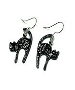 Black Cat Earrings Halloween Witch Emo Goth Jewellery  - £2.29 GBP