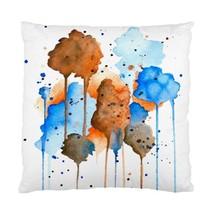 Pillow case Throw Pillow Cushion Case Abstract 9 Blue Orange Brown art L.Dumas - $23.99+